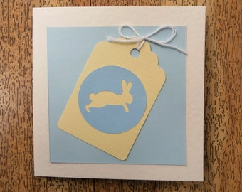 Cute little Bunny card. Individually made. For Easter or any occasion