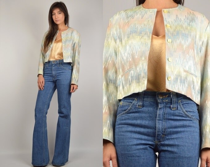 70's Vintage Space Dyed Crop Jacket