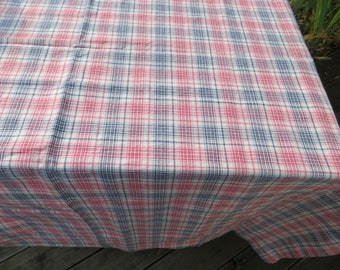 Gingham Checked Table Cloth Padded