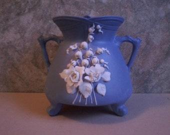 Matte Blue Porcelain Vase