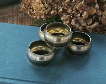 Modern Brass Napkin Rings, Set of 4, Napkin Rings for Weddings Home and Living