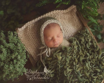 Newborn photography prop Newborn blanket Newborn prop blanket Chunky knit blanket Photography prop blanket Newborn layer Baby knit blanket