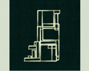 Modern Wall Art, Architectural Print, Mid Century Modern, Geometric Print, Abstract Art, Minimalist Art - limited edition