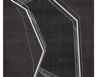 Mid Century Wall Art, Abstract Geometric, Wall Decor, Wall Art, Large Print, Minimalist Art, Geometric Print, Limited Edition (20)