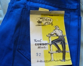 Vintage Texas City Panderosa pants blue - Men EU46 Women EU38