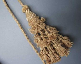 Antique Pair Double Tassel SILK Curtain Tie Backs - Home Decor - Drapes