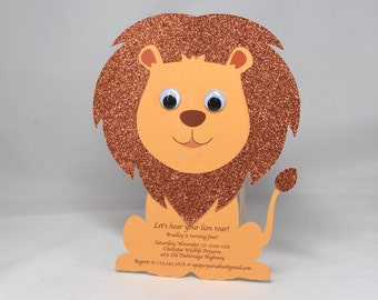 10 Lion Party Invitations