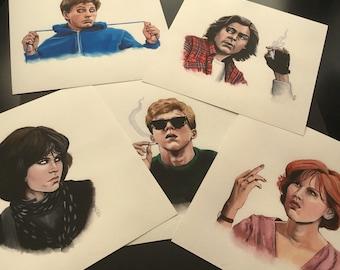 The Breakfast Club print set by Emily Shoichet