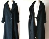 Long black coat, Vintage 1920s/30s