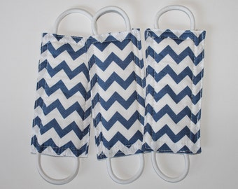 Latchy Catchy in Navy Chevron (Patented)