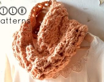 Crochet pattern, crochet chunky cowl pattern, crochet neckwarmer cowl, infinity scarf cowl, Coraline cowl, pattern no. 56