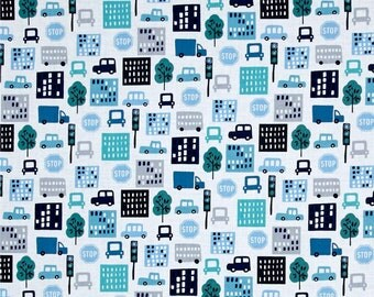 Planner Cover - in Michael Miller Loose in the City fabric - F2