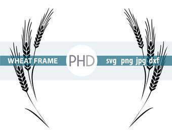 Wheat Frame- Digital files- jpg, png, svg, and dxf