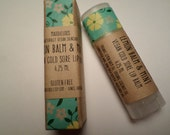 VEGAN-Lemon Balm & Mint Cold Sore Vegan Lip Balm-Vegan Lip Balm with essential oils-for Men and Women(4.25ml)