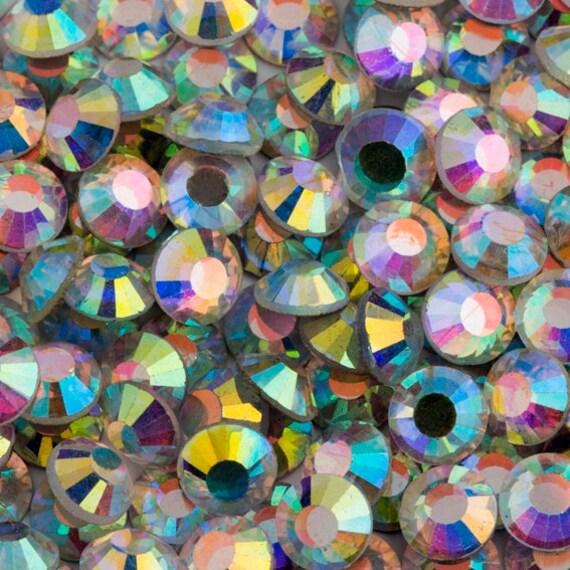 Gold Crystal AB  Flat Back DMC A+ Quality Glass Cut Hotfix Diamante Rhinestones C2