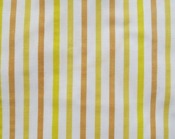 Vintage Sheet Fabric Fat Quarter - Shades of Yellow Stripes