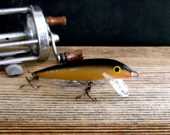 Vintage Minnow Fishing Lure, Vintage Fish Lure, Vintage Fishing Tackle, Rapala Countdown Fish Lure, Collectible Lure