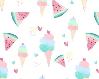 Pastel Ice Cream and Watermelon Dollhouse Wallpaper Download