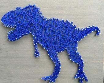 "T-Rex Dinosaur String Art 12x12"""