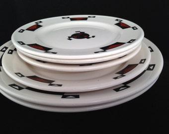 Ahwahnee, Yosemite, restaurant ware, china, vintage, plates