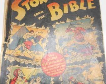 1943 Copyright Picture Stories From The Bible (19-E)  Complete Old Testament Edition. 232 Pages