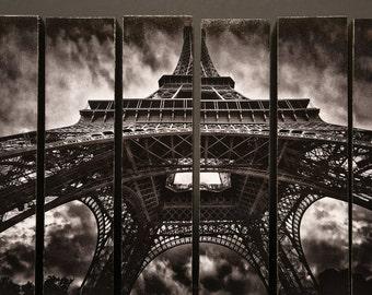 Storm Over Eiffel, Paris,France, McArthur Vertical Wood Blocks