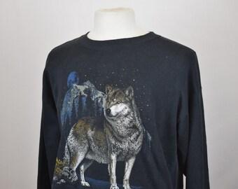 Wolf Print Sweater