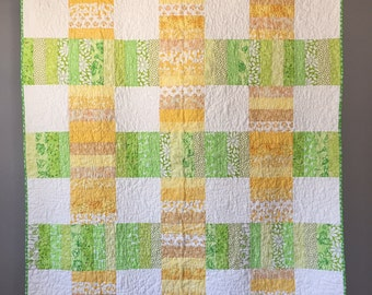Yellow/Green Quilt Throw