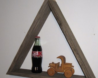 Barnwood  triangle Shelf