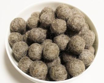 Light Brown Garland Felt Balls, Nepalese Felt Pom Poms, Felted Beads, Ethnic Jewelry Supplies