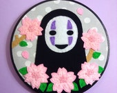 RESERVED for Myrna--No Face Spirited Away Embroidery Hoop