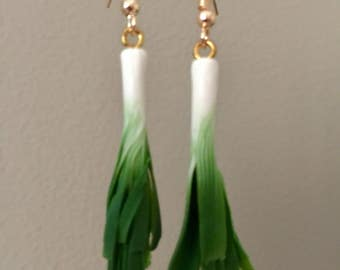 Leek Earrings