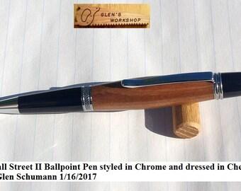 Ballpoint Pen Wall Street Pen Parker Pen Twist Pen Handmade Chrome Cherry