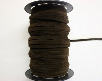 Chocolate Brown Faux Suede Trim 10 Yards