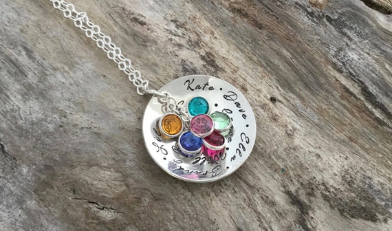 Birthstone Necklace for Mom/Mothers birthstone necklace/Birthstone jewelry mothers necklace /Birthstone jewelry for mom /Birthstone necklace