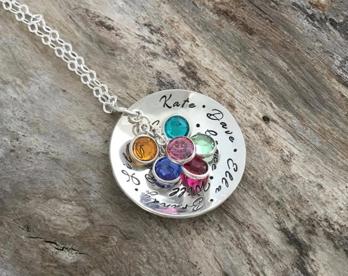 Grandma Necklace|Mother Necklace|Birthstone Jewelry|Personalized Mother Necklace|Mom Gifts|Birthstone Gifts|Mothers Day Gift|Family Necklace