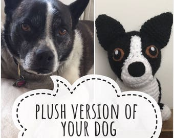 Custom Dog Stuffed Animal - Crochet Dog - Custom Plush Dog