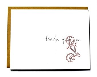 Bicycle thank you card - eco friendly