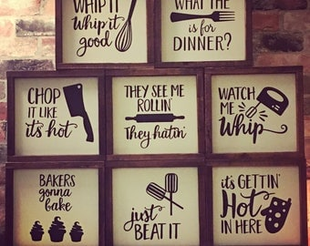Funny lyric kitchen signs