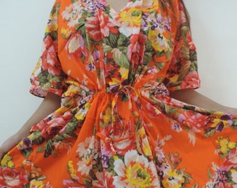 Floral Kaftan , Caftan, Perfect long dress, Spa Robe, For to be Moms, beach cover up, Long Caftan, Sleepwear, Best Gift for her, Long Kaftan