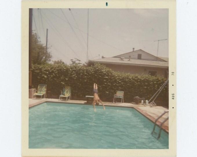 Vintage Snapshot Photo: Dive, 1970 (72550)