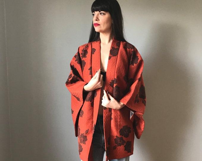 Vintage Kimono Orange Short Jacket