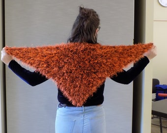 Fuzzy Shawl of Orange Pelt