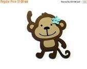 On SALE: Monkey Card - Animal Card - Brown Monkey Card - Children's Card - Greeting Card - Zoo Animal Card