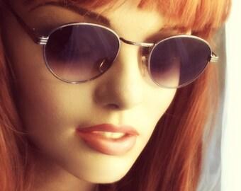 Round P3 Sunglasses / Mens Gatsby Glasses / John Lennon Glasses / Grey Lenses / Silver Gunmetal Frames / O'Malley Sunglasses