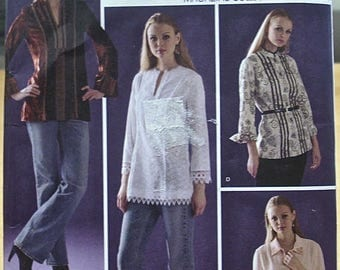 Free shipping! Simplicity 4017 Tunic  top sewing pattern 6 thru 14 or 14 thru 22 UNCUT