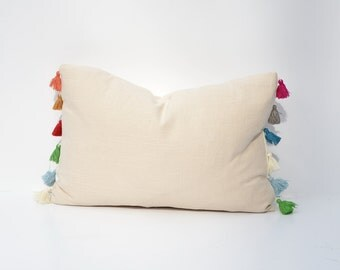 Tassel Trimmed Decorative Throw Pillow Cover