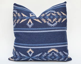 Ralph Lauren Trading Blanket Decorative Pillow Cover - Arrowhead Stripe Blanket - Night Sky