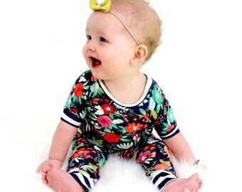 Floral Romper, Baby Romper, Girl Romper, Dolman Romper, Infant Romper, Baby Jumper, Coming Home Outfit, Toddler Romper, Baby Jumpsuit