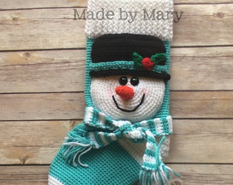 PDF Pattern: Snowman Stocking **Crochet Pattern Only!! Not Actual Item!**